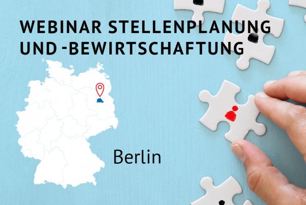 Webinar Stellenplanung und -bewirtschaftung gemäß der Landeshaushaltsordnung für Berlin