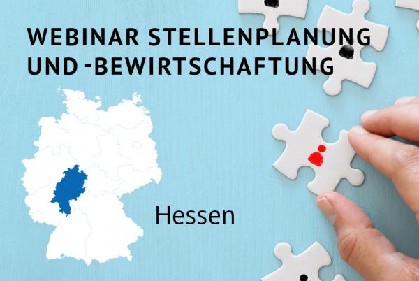 Webinar Stellenplanung und -bewirtschaftung gemäß der Landeshaushaltsordnung (LHO) für Hessen