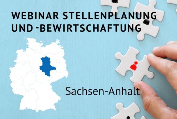 Webinar Stellenplanung und -bewirtschaftung gemäß der Landeshaushaltsordnung für Sachsen-Anhalt