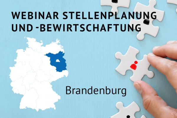Webinar Stellenplanung und -bewirtschaftung gemäß der Landeshaushaltsordnung für Brandenburg