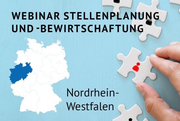 Webinar Stellenplanung und -bewirtschaftung gemäß der Landeshaushaltsordnung (LHO) für Nordrhein-Westfalen