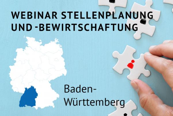 Webinar Stellenplanung und -bewirtschaftung gemäß der Landeshaushaltsordnung für Baden-Württemberg