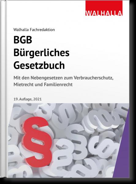 BGB - Bürgerliches Gesetzbuch Ausgabe 2021