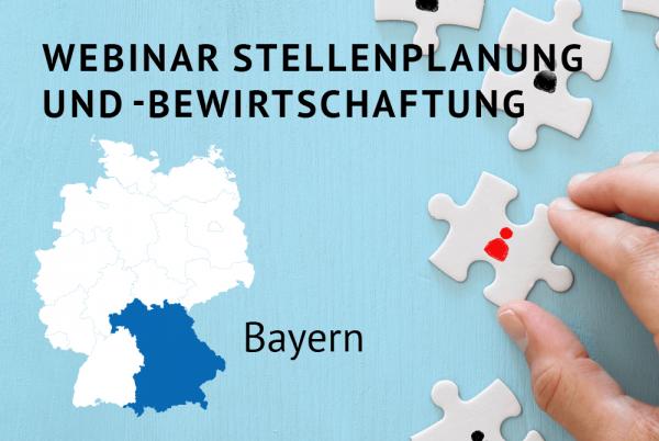 Webinar Stellenplanung und -bewirtschaftung gemäß der Bayerischen Haushaltsordnung (BayHO)