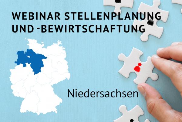 Webinar Stellenplanung und -bewirtschaftung gemäß der Landeshaushaltsordnung für Niedersachsen