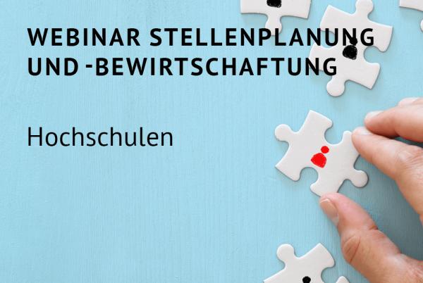Webinar Stellenplanung und -bewirtschaftung für Hochschulen nach der Landeshaushaltsordnung (LHO)