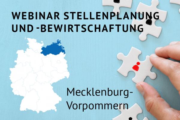 Webinar Stellenplanung und -bewirtschaftung gemäß der Landeshaushaltsordnung für Mecklenburg-Vorpommern
