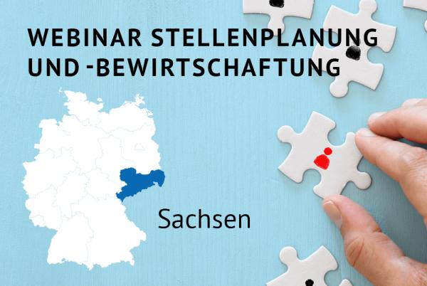 Webinar Stellenplanung und -bewirtschaftung gemäß der Landeshaushaltsordnung für Sachsen