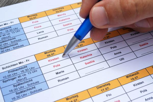 Rahmenbedingungen für die Dienstplangestaltung